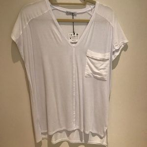 White Zara basic T
